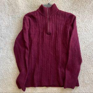 Sonoma Men's Burgundy Sweater
